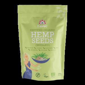 Зерна конопли Ишвари Hemp Seeds 250г (натуральное питание ISWARI)