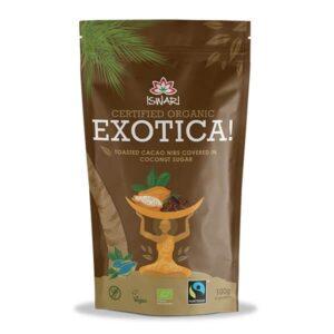 Смесь Экзотика Ишвари обжаренные какао бобы в глазури из кокосового сахара 100г (натуральное питание