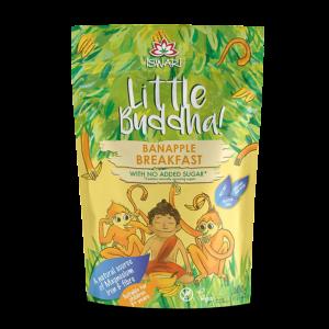Завтрак для детей Ишвари Little Buddha банан и яблоко 300г (натуральное питание ISWARI)
