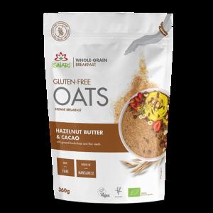 Завтрак Ишвари Oats овсянка с маслом лесного ореха и какао 360г (натуральное питание ISWARI)