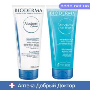 Набор Атодерм крем 200мл+Атодерм очищающий крем для душа 200мл Bioderma (Биодерма)