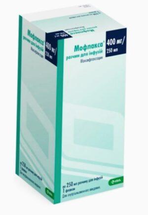 Мофлакса 400мг раствор для инфузин 250мл (Моксифлоксацин)