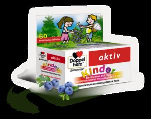 Доппельгерц KINDER витамины для глаз с Лютеином, таблетки жевательные 60шт
