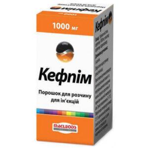 Кефпим 1000мг порошок для инъекций флакон (Цефепим)