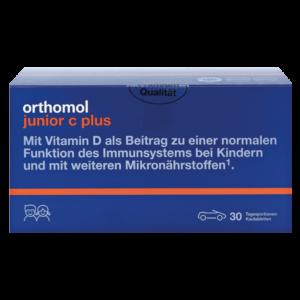 Orthomol Junior жевательные машинки на 30 дней с апельсиновым вкусом