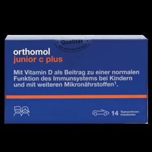 Orthomol Junior C Plus жевательные машинки на 14 дней
