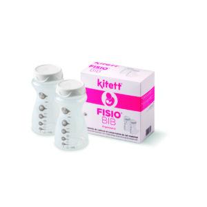 Бутилочка для сбора и хранения грудного молока FISIO BIB Kitett 2шт по 100мл