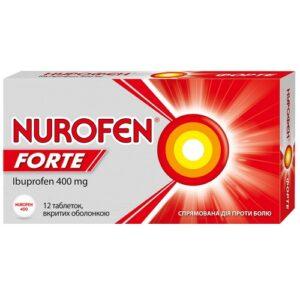Нурофен Форте 400мг таблетки №12 Ибупрофен