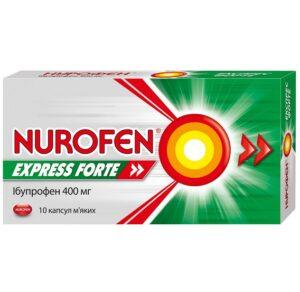 Нурофен экспресс форте 400мг капсулы №10 Ибупрофен