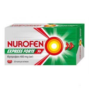 Нурофен экспресс форте 400мг капсулы №20 Ибупрофен