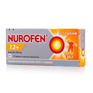Нурофен 12+ 200мг таблетки №12 Ибупрофен