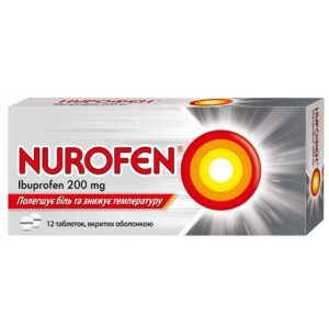 Нурофен 200мг таблетки №12 Ибупрофен