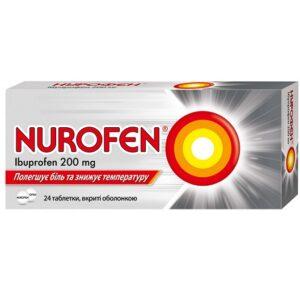 Нурофен 200мг таблетки №24 Ибупрофен