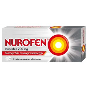 Нурофен 200мг таблетки №6 Ибупрофен