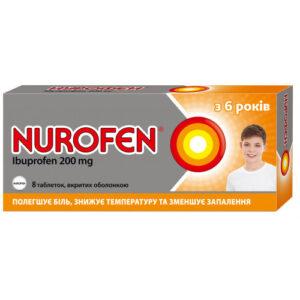 Нурофен 200мг таблетки №8 Ибупрофен
