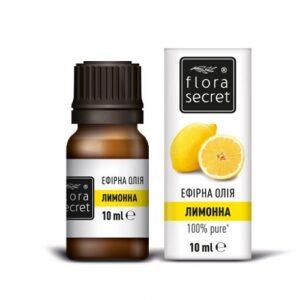 Лимонное эфирное масло 10мл Flora Secret