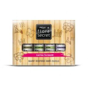 Набор эфирных масел Сауна и баня 4х10мл Flora Secret