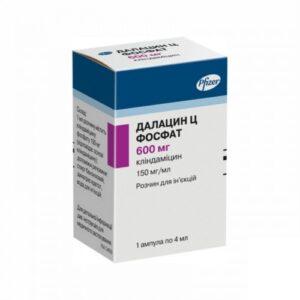 Далацин Ц фосфат 600мг раствор для инъекций 4мл флакон 1шт Клиндамицин