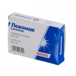 Левомак 500мг таблетки 5шт Левофлоксацин