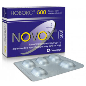 Новокс 500мг таблетки 5шт Левофлоксацин