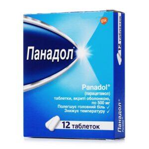 Панадол 500мг таблетки №12шт